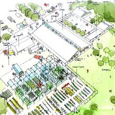 Hyde Hall Gardens Visitor Centre, Essex 2002 - van Heyningen and Haward Architects