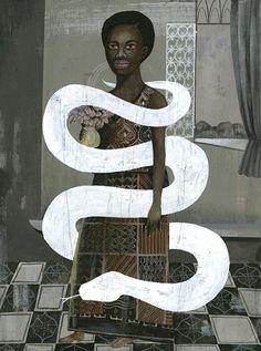 Olaf Hajek, Africa Photo, 2010, acrylic on board, 60 x 80 cm © Olaf Hajek