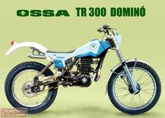Ossa TR300 Domino Vintage Motocross, Vintage Motorcycles, Cars And Motorcycles, Motos Trial, Trial Bike, Moto Bike, Dirtbikes, Trail Riding, Vintage Circus