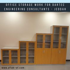 #OfficeFurniture Storage Installation by #Aflak for #DartecEngineeringConsultants #Jeddah #SaudiArabia, To know more about our #Storage related products. Office Storage Furniture, Jeddah, Getting Organized, Storage Solutions, Filing Cabinet, Drawers, Products, Shed Storage Solutions, Set Of Drawers