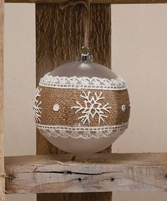 Loving this Snowflake Chantilly Glass Ball Ornament - Set of Two on #zulily! #zulilyfinds
