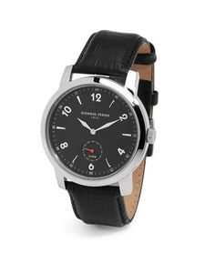 Giorgio Fedon 1919 Multifunction Stainless Steel Watch with Crocodile Strap Stainless Steel Watch, Crocodile, Watches, Leather, Accessories, Collection, Black, Crocodiles, Wristwatches