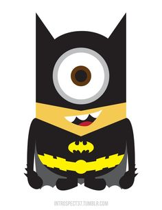 Bat minion! Need to find a way to carve this on this year's pumpkin