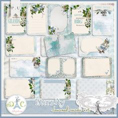 Eternity { Journal cards 4x6 }  by florju designs