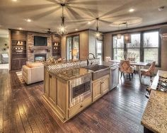 5 Open Floor Plans for Your Living Area Open concept living spaces are popular for home design trends, and for many great reasons. An open floor plan allows for one room to flow easily into another (i.e. - the kitchen and living room blend seamlessly), and there are some advantages to building a home that encompasses
