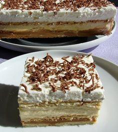 3 Bit (sütés nélkül) - I just LOVE this one! My favorite dessert after cheesecake! Hungarian Desserts, Hungarian Recipes, Sweet Desserts, No Bake Desserts, Dessert Recipes, Austrian Recipes, Creative Desserts, Cheesecake, Icebox Cake