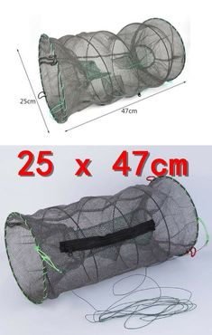 Made of thick gauge springy wire covered in excellent quality netting. A bait pouch and zip access. Trap is collapsible. Ideal for catching most types of bait fish, crab, crayfish and even lobsters. Fantastic for kids and a great little hobby item 2 Fly Fishing Gear, Fishing Tools, Best Fishing, Fishing Tricks, Fishing Stuff, Saltwater Fishing Gear, Fishing Storage, Wire Cover, Fishing Photography