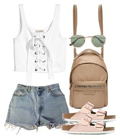 """""""Sin título #3318"""" by camilae97 ❤ liked on Polyvore featuring Levi's, STELLA McCARTNEY, Birkenstock and Ray-Ban"""