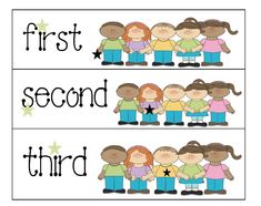 Classroom Freebies: Ordinal Number Cards
