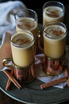 3-ingredient Hot Buttered Rum with Cider - a sugar free, lightened up version of a classic cocktail