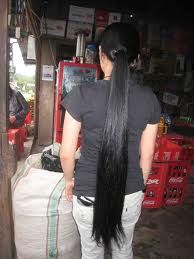 Long black and thick hair is a stereotype of the Indonesian woman.