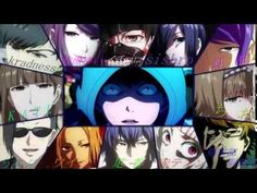 Tokyo Ghoul all Characters singing Opening song (Unravel - TK from Ling ...