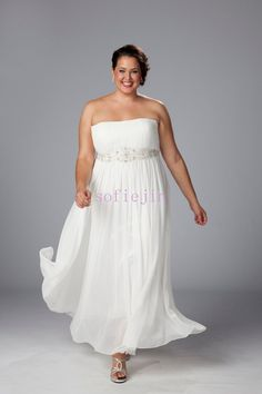 Plus Size Beach Wedding Attire   ... chiffon ankle length casual beach wedding dresses 2012 plus size