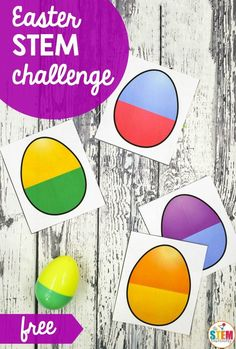 Whether you're in need of fresh STEM centers, early finisher activities or math games, this Easter Egg STEM Challenge is a must-try! Just grab a bag of plastic Easter eggs and you're ready to stretch students' learning in a BIG way. Easter Activities For Preschool, April Preschool, Spring Activities, Holiday Activities, Stem Activities, Preschool Eggs, Childcare Activities, Preschool Lessons, Science Lessons