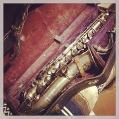 Bubbles bought a vintage C Melody saxophone