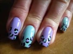 Pastel leopard nails - nail art tutorial - Pastelowa panterka - Basevehei - YouTube