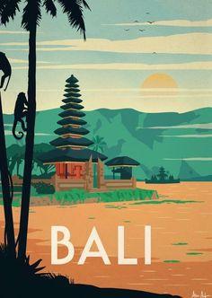 Alex247 Art print Bali #vintageposters