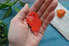 Fox polymer clay brooch.Gift ideas.Handmade Polymer Clay