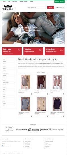 Fashion webovky pro obchod se značkovým oblečením včetně eshopu. Made with ♥ in Brno by Steiner Media