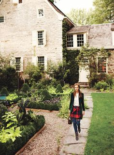 country houses, dream, english cottages, english country, old houses, tartan, garden, country homes, stone houses