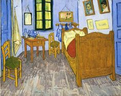 Vincent's Bedroom in Arles by Vincent van Gogh #art
