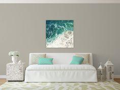large beach photography // beach canvas // beach by SeptemberWren