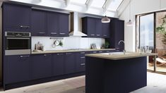 The Newbury Midnight Kitchen is a gorgeously dark kitchen that will add a touch of drama to any home. View this modern kitchen style today. Kitchen Units, Blue Kitchens, Home Decor Kitchen, Blue Kitchen Designs, Modern Kitchen, Kitchen Magnet, Dream Kitchen Layout, Kitchen Layout, Kitchen Design