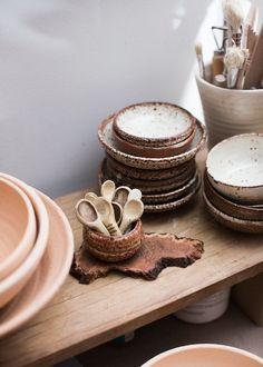 Sarah's ceramics. Photo -Sean Fennessyfor The Design Files.