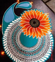 50 New Rangoli Designs (Rangoli Ideas) - October 2019 Rangoli Designs Simple Diwali, Rangoli Simple, Indian Rangoli Designs, Rangoli Designs Latest, Rangoli Designs Flower, Free Hand Rangoli Design, Small Rangoli Design, Rangoli Border Designs, Rangoli Ideas