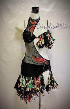 abito danze latino americane e caraibiche.latin dress. www. crinolinatelier.it