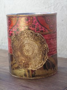 altered tin can. Indian.  No instructions.