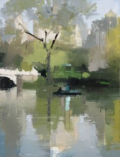 Lisa Breslow Boaters 3, 2018 oil and pencil on panel 16 x 12 in.