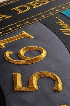 Goldwork - Worshipful Company of Broderers lectern fall - detail