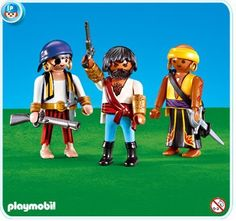 Playmobil Pirates by Playmobil. $13.99. Ages 4-up. Add-on, ships in plastic bag. Take this into consideration if Gifting.. Please Note: This item is part of the Direct Service range. This particular range of products are intended as accessories and / or additions to existing Playmobil sets. For this reason these items come in clear plastic bags or brown cardboard boxes instead of a colorful blue retail box.