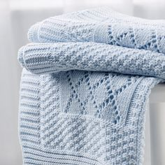 Knitted Patchwork Baby Blanket | Baby Blankets | Baby | The Little White Company | The White Company UK
