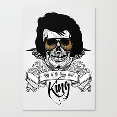 Elvis Presley   The King of the Living Dead Stretched Canvas by  David Somers - $85.00