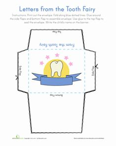 Lost Tooth Envelope Template Teething Envelopes And