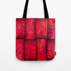 lava lamp abstract by saribelle rodriguez tote bag