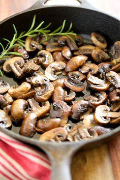 Garlic Butter Sauteed Mushrooms