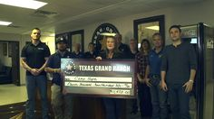 Giving thanks to our Homesites Helping Heroes anniversary sponsors at Texas Grand Ranch. All proceeds go to our friends at PTSD Foundation of America'. George Bush Intercontinental Airport, 1 Year Anniversary, Ranch, Presentation, Texas, Check, 1st Anniversary, Guest Ranch, Texas Travel