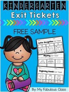 I have written a post on how I use Exit Tickets in the Classroom Exit tickets are a great formative assessment. They are a quick way to determine if students get the concept that you have taught or if they need to spend more time on the concept.You can use them in small group , at a related literacy center, or the entire class can do them after a whole group lesson.