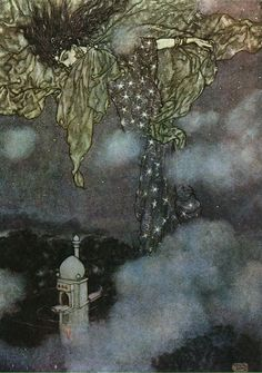 Night, The Rubaiyat of Omar Khayyam - illustration by Edmund Dulac.