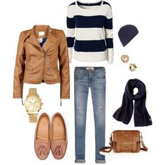 I love the jeans with the jacket and would definitely wear this outfit on walk in autumn - it's so cute and comfy