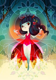 Her Fire Within by Lorena Alvarez Gómez, via Behance