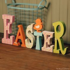 The Wood Connection - Easter Letter Set, $17.95 (http://thewoodconnection.com/easter-letter-set/)