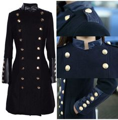 8c5ce842 Women Military Style Coat Double Brested Stand Collar Women Fashion Slim Co