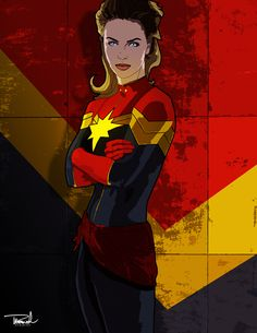 Captain Marvel by tsbranch on deviantART