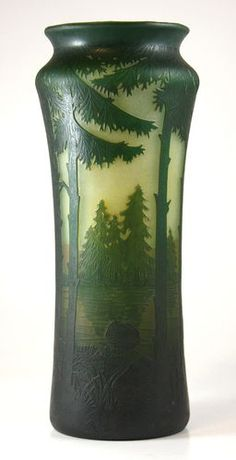 Art Nouveau Daum Nancy Cameo Glass Vase | eBay
