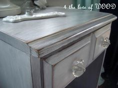 4 the love of wood: WHITE WASHED DOVE GREY - primer and wax:  HOW TO!!!