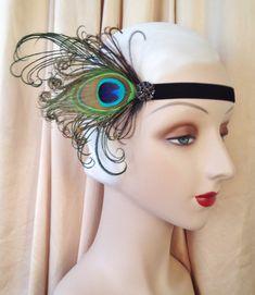 1920's headband flapper headband gatsby era headpiece